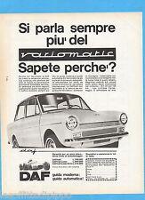 QUATTROR966-PUBBLICITA'/ADVERTISING-1966- DAF VARIOMATIC
