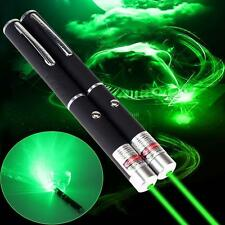 2pc MILITARY 5mW Green Laser Pointer Pen 532nm Lazer High Powerful Light AD