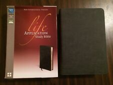 NIV Life Application Study Bible -Distressed Black Bonded Leather- $69.99 Retail