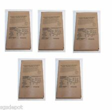 (5) MRE Shredded Beef Barbecue Sauce BBQ Military Meal Entree Survival Food USA