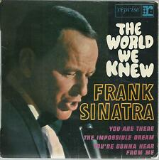 45 TOURS 4 TITRES / FRANK  SINATRA   THE WORLD  WE KNEW            µ