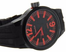 Montres Carlo Big Face Sports Rubber Band Watch Water Resistant Seiko Instrument