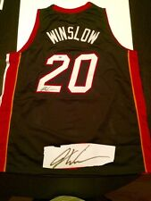 Justise Winslow Hand Signed Miami Heat Jersey NBA Basketball PSA DNA Duke