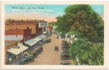 View on Marion Street in Lake City FL Postcard