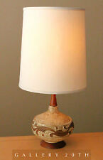 MID CENTURY DANISH MODERN TEAK TABLE LAMP! Eames 50s 60s Vtg Raymor Light Retro