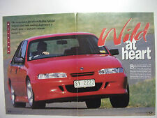 HOLDEN VR COMMODORE HSV CLUB SPORT 4 PAGE MAGAZINE PREVIEW & DRIVE ARTICLE