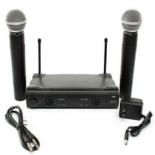 PRO Dual WIRELESS CORDLESS MICROPHONE SYSTEM WITH WIRELESS UT4 TYPE +2 MIC