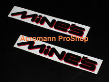 "2x8.5""21.6cm MINE'S Decal Sticker gtr silvia evo SE-R SX ZX S15 350Z 370Z fender"