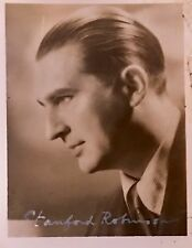STANFORD ROBINSON ,COMPOSER AND CONDUCTOR ,GENUINE AUTOGRAPHED SMALL PHOTO