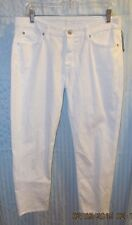 7 FOR ALL MANKIND WHITE KIMMIE CROP PANTS CONTOUR WAIST SKINNY SZ 31 NWTGS $220