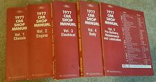 Vintage Ford Car Shop Manuals (set of 5). 1977. Lots of pictures!