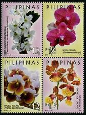 Orchids se-tenant block of 4 mnh stamps 2016 Philippines Pilipinas Flowers