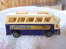 Matchbox Superfast  No 65 Airport Coach 1977 Lesney England Lufthansa