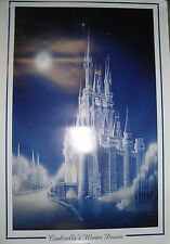 """Art Of Disney"" Cinderella's Winter Dream Castle Print 24x36"