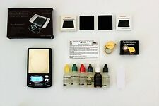 Gold Hunter Testing Kit-6 acid test solutions-Scale -Weigh to 1000gr-Plus More
