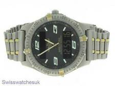 BREITLING AEROSPACE TITANIUM & GOLD MENS WATCH W/ BOX & PAPERS