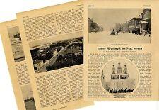 Russland Archangel Dwinaufer deutsches Viertel Hafen Historical Memorabilia 1903