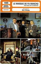 Movie Card. Fiche Cinéma. Le masque de Fu Manchu (G.-B.) Don Sharp 1965
