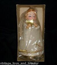VINTAGE CHRISTMAS ROTATING REVOLVING MUSICAL ANGEL SILENT NIGHT MADE IN JAPAN