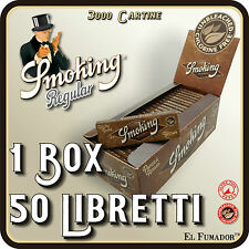 3000 Cartine SMOKING BROWN CORTE - Box 50 Libretti - MARRONI NO CLORO