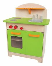 Hape Gourmet Kitchen Green Wooden Play Set Kids Pretend Play E3101 New