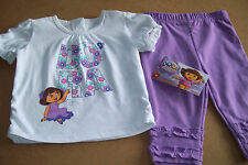NICKELODEON DORA THE EXPROLER 2PC LEGGINGS/PANT OUTFIT 24 Mos.