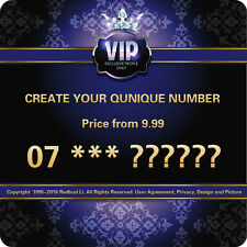 CREATE YOUR VIP GOLD PLATINUM DIAMOND MEMORABLE UNIQUE PHONE NUMBER SIM CARD