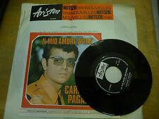 """CARMELO PAGANO""""IL MIO AMORE VIVRA'- disco 45 giri ARISTON 1968 BEAT Italy"""""""