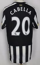CABELLA #20 NEWCASTLE UNITED HOME FOOTBALL SHIRT 14-15 MENS LARGE PUMA RARE