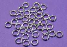 5mm 925 Sterling Silver split ring Jump Rings 12pcs.