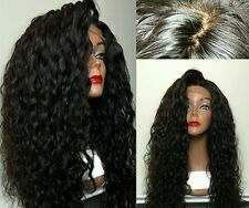 Top Quality Heat Resistant synthetic  Loose Curl Lace Front Wig 180% Density 22""