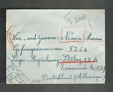 1940s Brussels Belgium POW Prisoner of War Cover to Germany Stalag  9A
