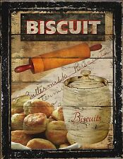 Primitive French Country Kitchen Diner Biscuit Flour Baking Rolling Pin Sign