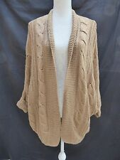 Vintage Couture brown short sleeve open cardigan / jacket Size 16 / 18 ?