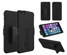 iPhone 7 Plus Rugged Slide Holster Belt Clip Case Cover w/ Kickstand