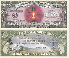 Light of Hope Romans 8:18 Million Dollar Bill Collectable Fun Money Novelty Note