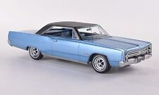 NEO Models 1:43 Plymouth Sport Fury Hardtop, metallic blue/matt black