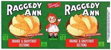 VINTAGE TIN CAN LABEL RAGGEDY ANN NURSERY RHYMES 1939 ORIGINAL FOR GOODNESS SAKE