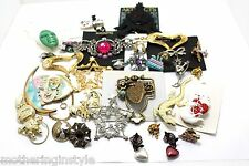 Vintage Jewelry Estate Sale Lot Brooches Brooch Pin Resale Wholesale Craft Etc.