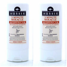 2 X AUSSIE 3 MINUTE MIRACLE RECONSTRUCTOR DEEP CONDITIONER 75ML TRAVEL SIZE