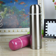 500ml Stainless Steel Tea Milk Water Drink Coffee Flask Vacuum Bottle Cup ZD