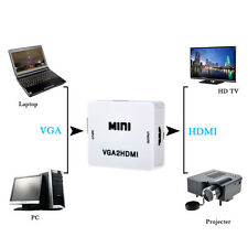VGA to HDMI Full HD Video 1080P Audio Converter Box Adapter for PC Laptop DVD
