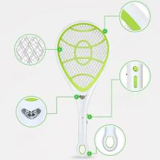 BUG ZAPPER RACKET ELECTRONIC MOSQUITO FLY SWATTER INSECTS ELECTRIC BAT HANDHE GD