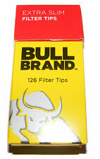 1 PACK OF BULL BRAND EXTRA THIN CIGARETTE ROLL UP FILTER TIPS - 5.3mm - 126 TIPS