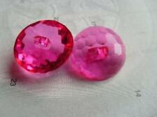 B226-15mm 10 BABY CRYSTAL DIAMOND GLASS EFFECT SHANKED PLASTIC ITALIAN BUTTONS