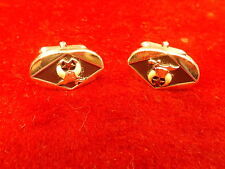 #7 of 9, PAIR OF OLD VTG SILVER SWANK MASONIC SHRINERS CUFFLINKS, VG CONDITION