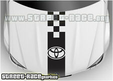 BS2107 Toyota bonnet racing stripes graphics stickers decals Aygo Yaris Hilux