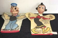 Vintage Early Gund Popeye & Olive Oly Hand Puppets