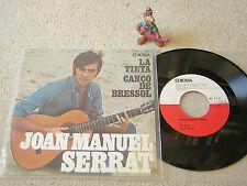"""JOAN MANUEL SERRAT La Tieta / Canco de Bressol 1967 SPAIN 7""""+PS EDIGSA CM 185"""