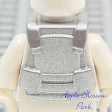 NEW Lego Minifig METALLIC SILVER VEST -Police Agents Bullet Proof Tactical Armor